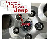 black jeep center caps - JEEP Center Cap Overlay Decals- 2011-2018 Jeep Grand Cherokee - (Color: Gloss Black)