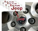 black jeep center caps - JEEP Center Cap Overlay Decals- 2012-2018 Jeep Wrangler - (Color Flat Black)