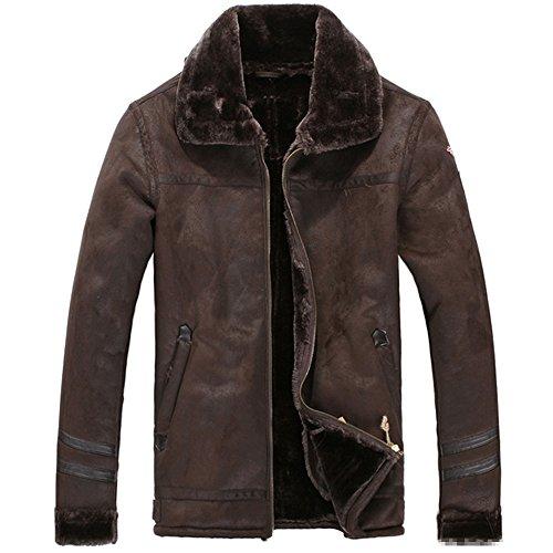 Leather Vintage Coat - 8