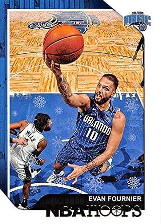 9e519c4e9c1 Amazon.com  2018-19 Panini NBA Hoops Winter Holiday Christmas  169 Evan  Fournier Orlando Magic Official Basketball Card  Collectibles   Fine Art