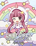 Chibi Girls Coloring Book: For Kids with Cute