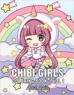 Amazon.com: Chibi Girls Coloring Book: For Kids with Cute ...