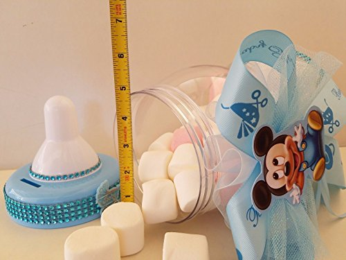 Mickey Mouse Centerpiece Bottle Large 12'' Baby Shower Piggy Bank Boy Decoration by Product789 (Image #1)