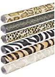Pacon Fadeless Safari Prints Paper, 2-Feet by 8-Feet rolls, 6 Assorted Designs (56920)