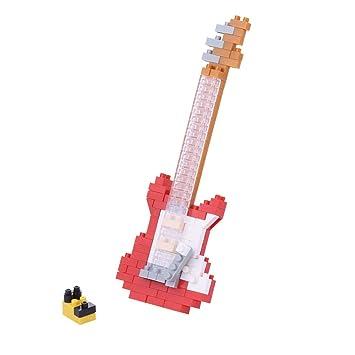 Nanoblock - Juego de construcción de Guitarra eléctrica (Rojo): Amazon.es: Juguetes y juegos