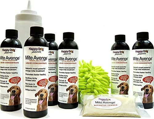 Mite Avenge Demodectic Mange Mite Treatment for Dogs - All-Natural, Non-Toxic (6 Treatments)
