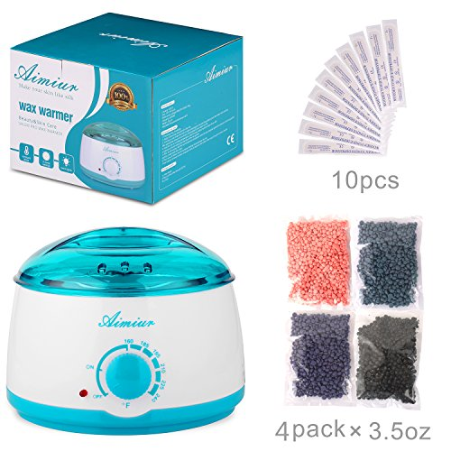 Price comparison product image Wax Warmer, Wax Hair Removal Kit + Hard Wax Beans + 10 Wax Applicator Sticks (wax warmer+wax beans)