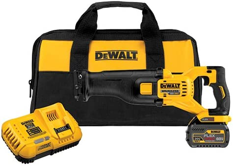 DEWALT DCS388T1 FLEXVOLT 60V MAX Brushless Reciprocating Saw with 1 Battery Kit