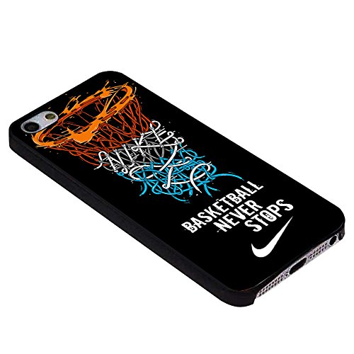 Basketball Never Stops for Iphone Case (iPhone 6S plus black)