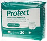 Medline MSC13005A Protect Extra Protective Underwear, Medium, 4 Packs of 20 (80 total)