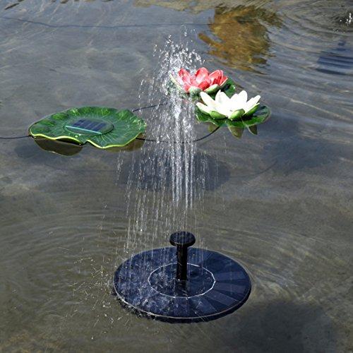 XZANTE Fontaine a bain en forme doiseau solaire Pompe a fontaine a solaire en forme doiseaux pour le jardin et le patio