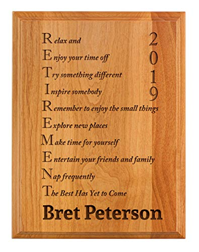 """Personalized Retirement Plaque"" by Personalized Gifts"