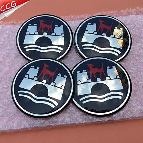 NGA carStickers 4pcs 65mm Wolfsburg Logo car Emblem Wheel Center Hub Sticker Auto Rim Badge Decals Accessories