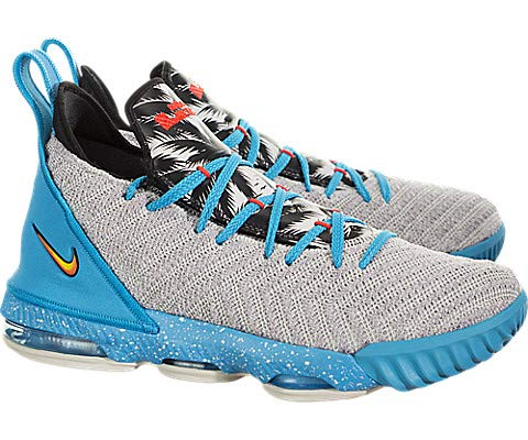 Nike Kid's Lebron XVI (GS) Basketball Shoes (3.5 Big Kid, Light Bone/Tour Yellow-Bright Crimson)
