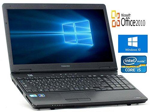 【Microsoft Office2010搭載】【Win10搭載】【テンキー内蔵】TOSHIBA B551/第二世代Core i5 2.30GHz/メモリ4GB/HDD250GB/DVDスーパーマルチ/大画面15インチ/無線LAN搭載/中古ノートパソコン B01N19Z1YX, オートパーツエージェンシー e087c267