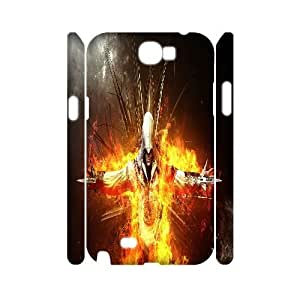 Diy Assassins Creed 3D Cell Phone Case, DIY Durable Cover Case for Samsung Galaxy Note 2 N7100 Assassins Creed