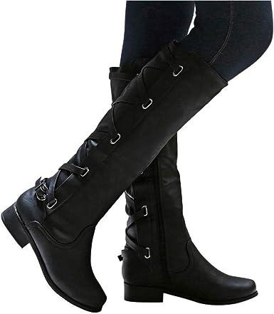 Dainzuy Wide Calf Boots for Women Round