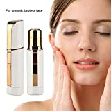 Mini Facial Hair Remover for Women, Kobwa Portable Waterproof Electric Facial Hair Remover Shaver, Painless Hair Removal, Safe to Remove Hairs on the Upper Lip, Chin, Cheeks, Portable Lipstick Desig