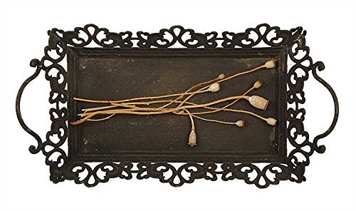 Creative Co-Op Rust Metal Tray with Handles