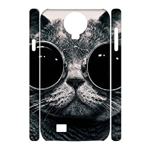 LZHCASE Diy Case Lovely Cat Cover For Samsung Galaxy S4 i9500 [Pattern-1]
