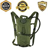 Meanhoo 3L Hydration Water Bag Pouch Backpack Bladder for Walking Backpacking Pack Water Rucksack (Rucksack Backpack with water bag) (green) Hiking Climbing Survival Outdoor Backpack