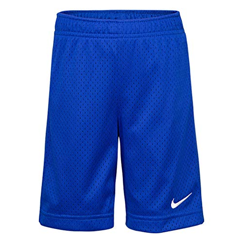 (NIKE Children's Apparel Boys' Little Mesh Shorts, Hyper Royal, 7)