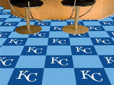 "MLB - Kansas City Royals Carpet Tiles 18""x18"" tiles"