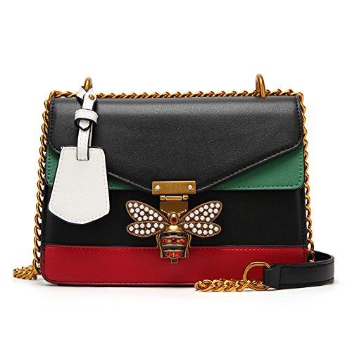 fcbcde776a6 Aliceherry Fashion Luxury Designer Shoulder Bee Top-Handle for Women
