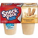 Snack Pack Cinnamon Twist Churro Pudding, 4 Count