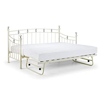 Happy Camas Sophie Metal Invitados Cama Nido Guest colchones Blanco Piedra, Metal, Gris, Blanco, 3FT - 2X Spring Mattress: Amazon.es: Hogar