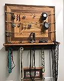 Rustic Jewelry Wall Organizer/Jewelry Storage/Jewelry Organizer/Decorative Jewelry Holder/Wood Jewelry Organizer/Rustic Wood Storage