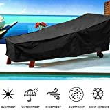 Patio Chaise Lounge Cover Water Resistant Sun