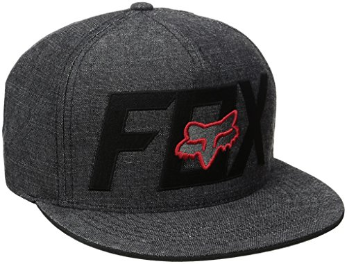 Fox Men's Keep Out Snapback, Black/Red, One Size (Fox Hat Snapback)