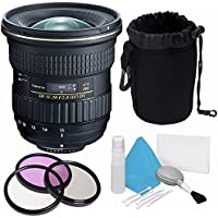 Tokina AT-X 11-20mm f/2.8 PRO DX Lens for Nikon F (International Model) No Warranty + Deluxe Cleaning Kit + 82mm 3 Piece Filter Kit + Deluxe Lens Pouch Bundle 6