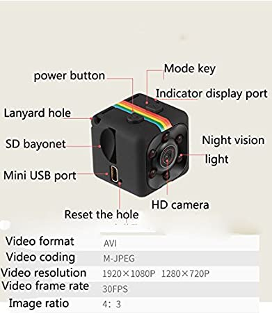 Amazon.com : Mini Wireless Hidden Spy Camera: Secret WiFi Micro Security Cameras for Indoor or Outdoor Surveillance - Home Office or Car Video Recorder with ...