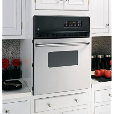 GE 24 In. Black Electric Single Wall Oven JRS06SKSS