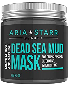 Aria Starr Beauty Natural Dead Sea Mud Mask, 8.8 Ounce