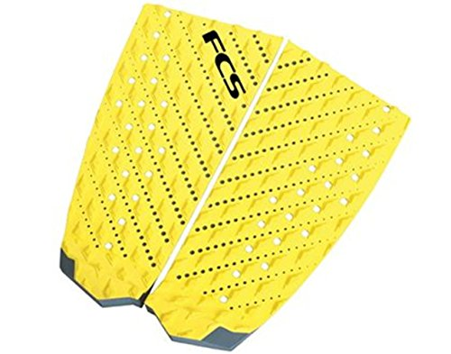 FCS Surf T-2 Traction Pad, Taxi Cab Yellow/Slate