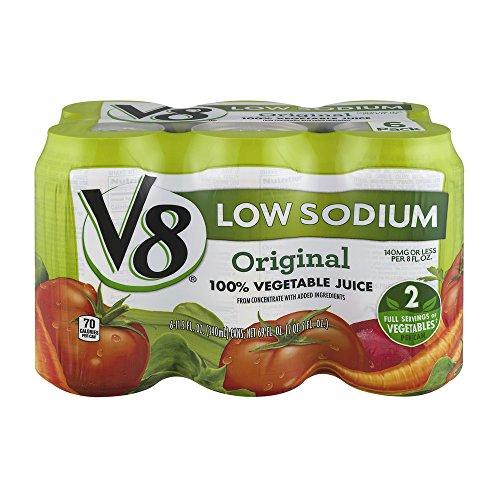 V8 100% Vegetable Juice Low Sodium Original - 11.5 oz (Pack of 12) ()