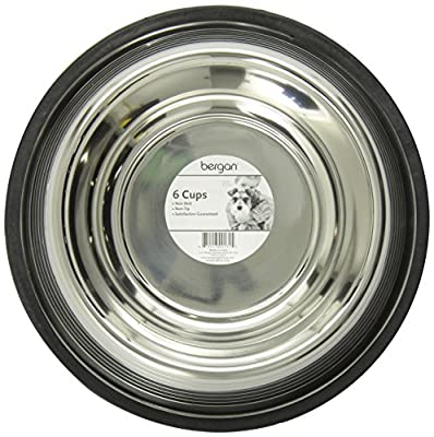 Bergan Stainless Steel Non-Skid/Non-Tip Pet Bowl with Ridges from Amazon.com, LLC *** KEEP PORules ACTIVE ***