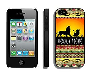 Cheap Sunset Lion King Iphone 4 4s Case Black Cover