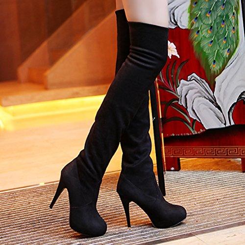 Black Mujeres AIYOUMEI Black AIYOUMEI Boot Mujeres Classic Classic AIYOUMEI Boot qURxS5w