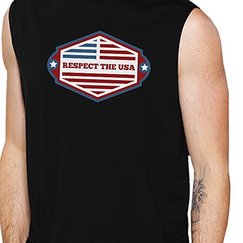 365 Manche Taille The Printing Unique Sans Respect Homme Usa Pull rqrtT