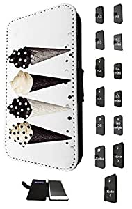 785 - Fashion Designer ice cream Design Fashion Trend Credit Card Holder Purse Wallet Book Style Tpu Leather Flip Pouch Case Samsung Galaxy S4 Mini