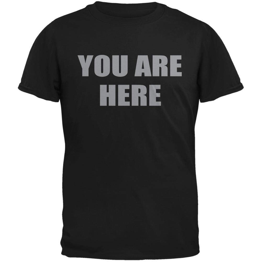 You Are Here Inspired By John Lennon Adult Tshirt