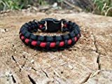 Thin Red Line Firefighter Paracord Bracelet