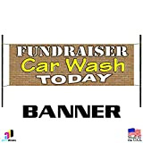 Fundraiser Car Wash Today Advertising Banner Business Sign Outdoor Wax Detail