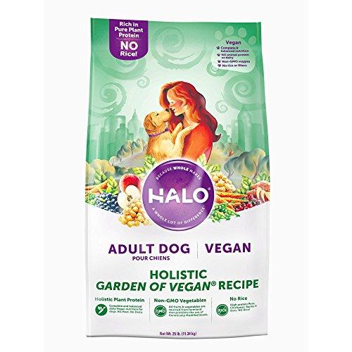 Halo Vegan Dry Dog Food, Garden Of Vegan Recipe, 25-Pound Bag