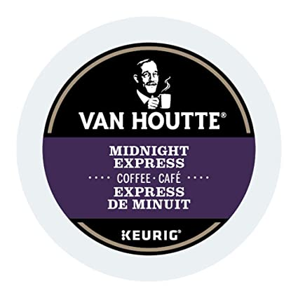 Van Houtte Midnight Express Single Serve Keurig Certified Recyclable K-Cup  pods for Keurig brewers, 24 Count