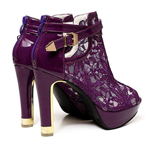GetmorebeautyUpdate - Zapatos de tacón  mujer morado